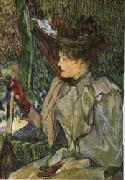 Henri De Toulouse-Lautrec Woman with Gloves oil painting artist